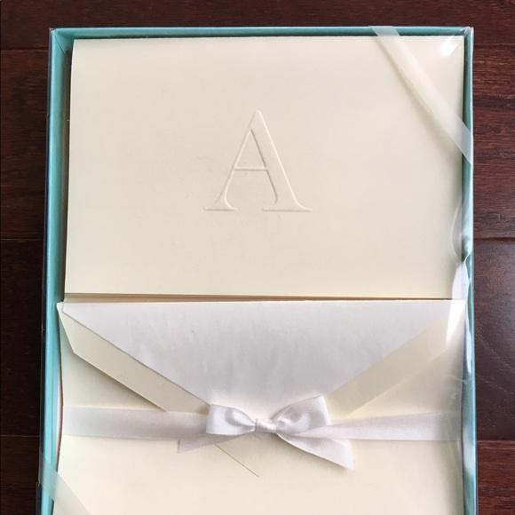 Tiffany A embossed stationary